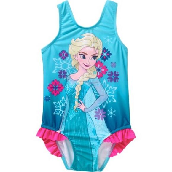 Disney Store Elsa Swimsuit Deluxe 1 pc Frozen 3,4,7//8,9//10 New NWT